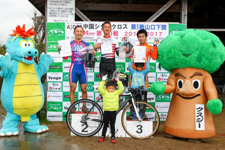 「中国シクロクロス 山口下関ステージ」        C3+C4カテゴリーにて今倉が優勝!